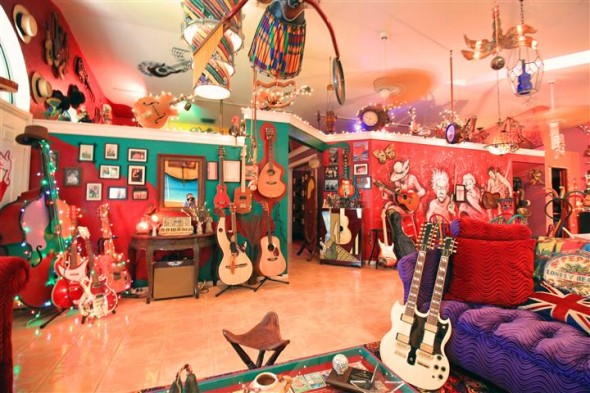 Mike Riley's home is a living tribute to rock n' roll history, a Magical Mystery Tour with Peter Maxx and Sgt. Pepper!