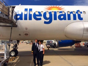 Allegiant is updating their fleet of planes to the more technologically sophisticated Airbus A320s, which not only can hold 177 passengers, but are more fuel efficient and quiet.